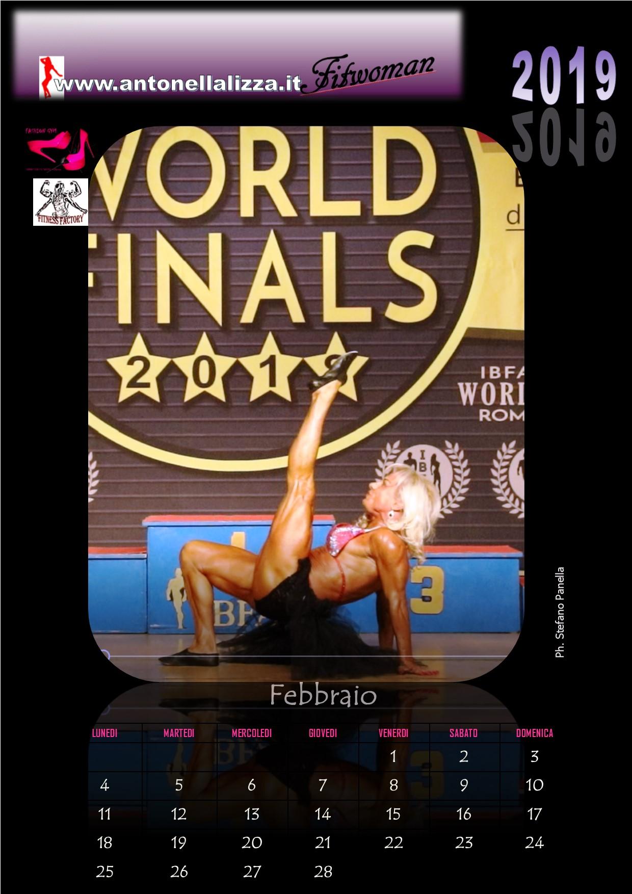 Calendario Fitness 2019.Official Web Site Antonella Lizza Bodybuilding World